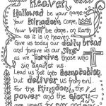Children's Lord's Prayer Printable | The Lord S Prayer Printable   Free Printable Lord's Prayer Coloring Pages