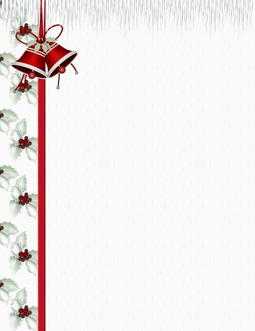 Christmas 3 Free-Stationery Template Downloads | Stationary - Free Printable Christmas Letterhead