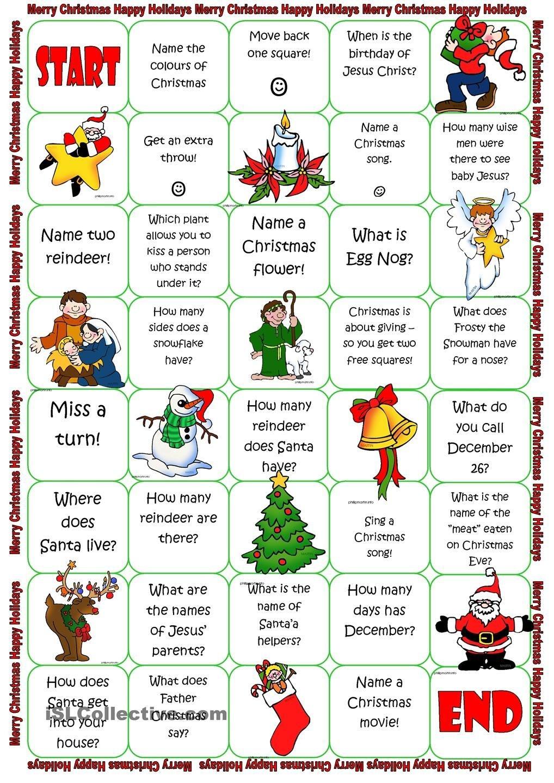 Christmas Board Game | Christmas Lessons | Christmas Board Games - Free Printable Christmas Board Games