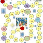 Christmas Board Game Template Worksheet   Free Esl Printable   Free Printable Christmas Board Games