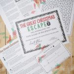 Christmas Escape Room (Activities, Trivia & Puzzle Games For   Free Printable Escape Room Game