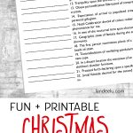 Christmas Games: Guess These Christmas Songs!   Landeelu   Free Printable Christmas Song Picture Game