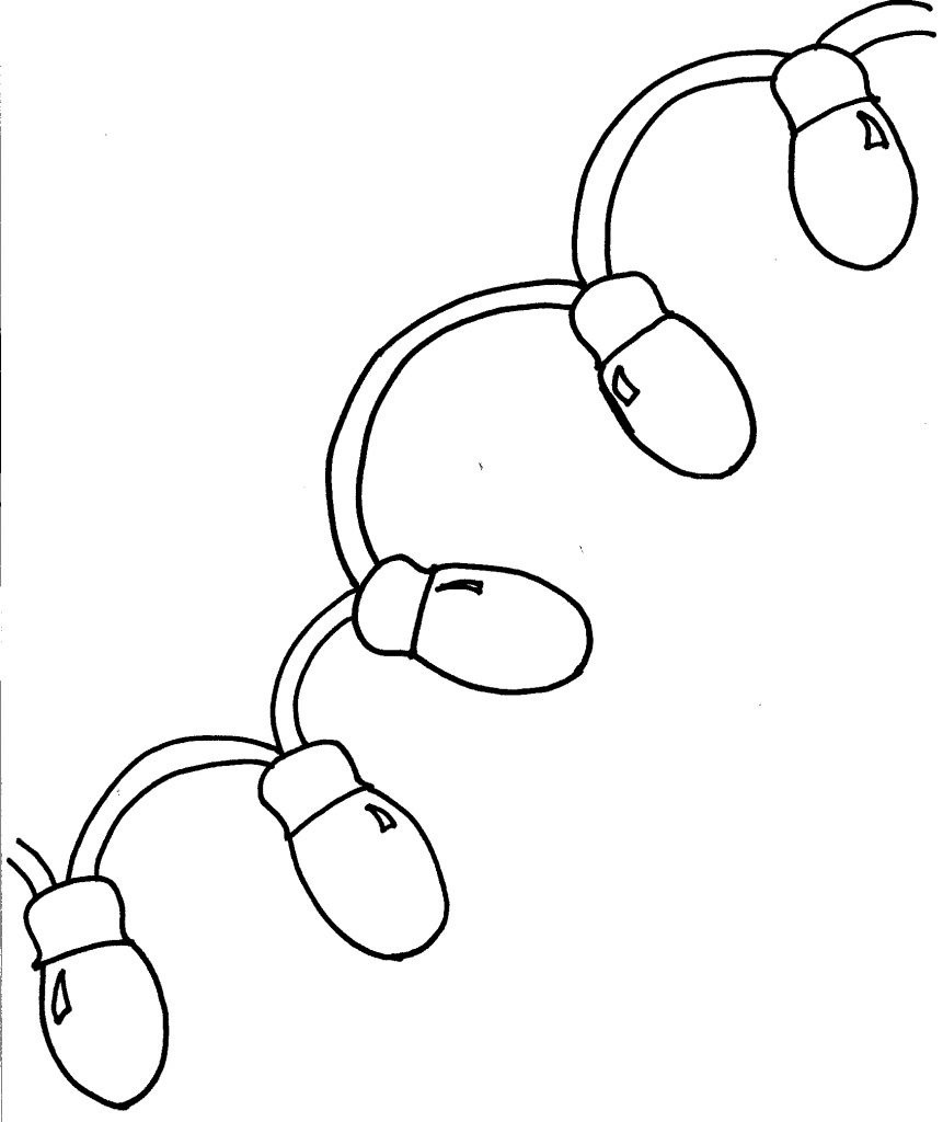 Christmas Lights Coloring Pages - Coloring Pages For Kids - Free Printable Christmas Lights Coloring Pages