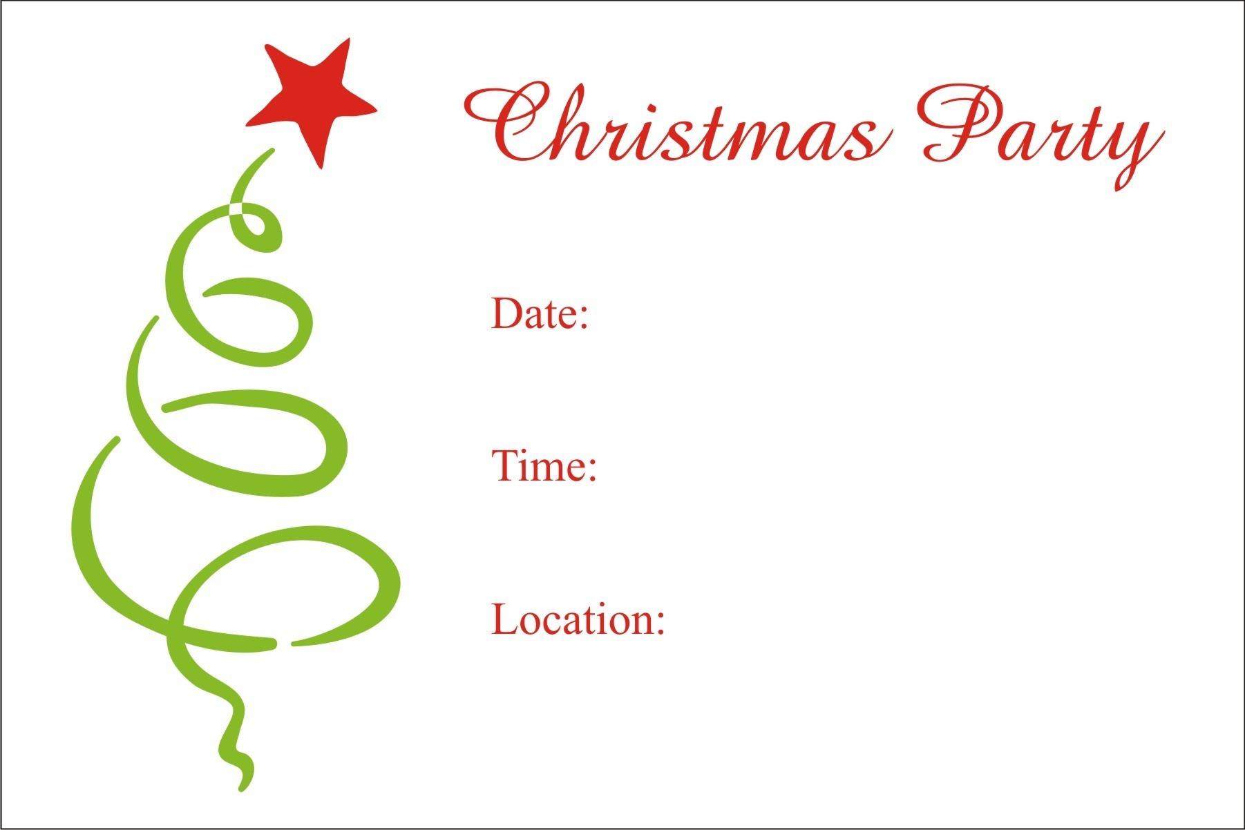 Christmas Party Free Printable Holiday Invitation Personalized Party - Free Printable Christmas Invitations