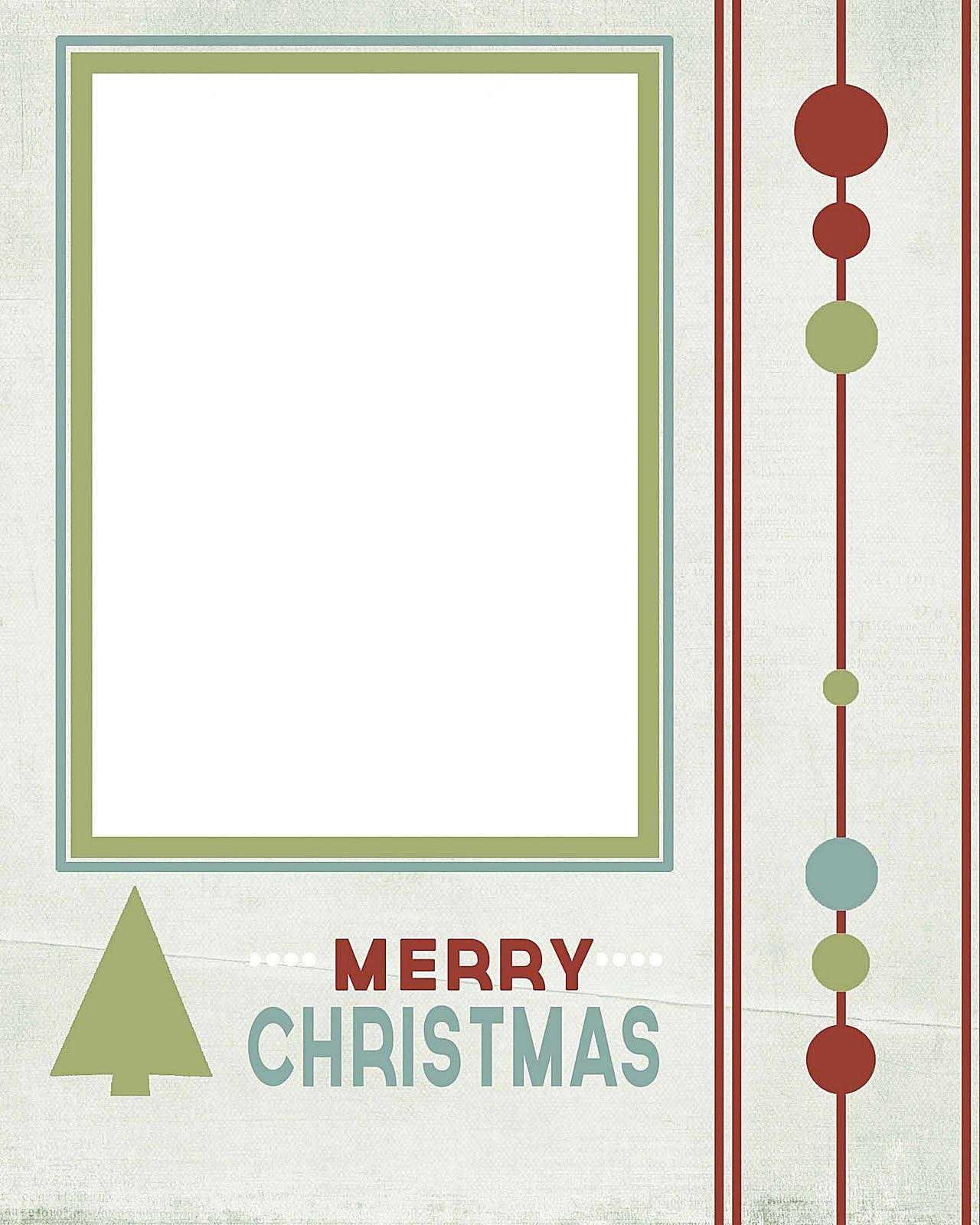 Christmas Photocard Template - Kaza.psstech.co - Free Online Printable Christmas Cards