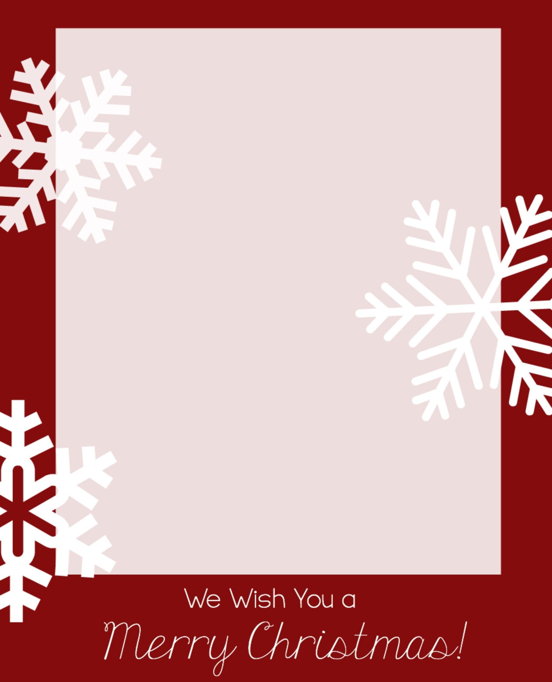 Christmas Photocard Template - Kaza.psstech.co - Free Printable Christmas Card Templates