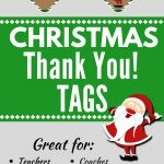 Christmas Thank You Tags Free Printable | Christmas   Food, Crafts   Free Printable Christmas Food Labels