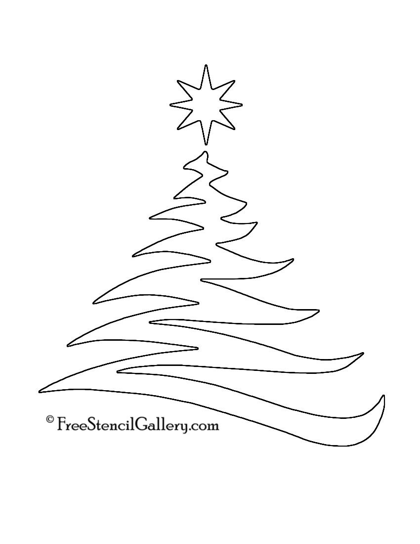 Christmas Tree Stencil 20 | Christmas | Christmas Tree Stencil - Free Printable Christmas Ornaments Stencils