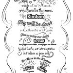 Click The Lord's Prayer Doodle Coloring Pages To View Printable   Free Printable Lord's Prayer Coloring Pages