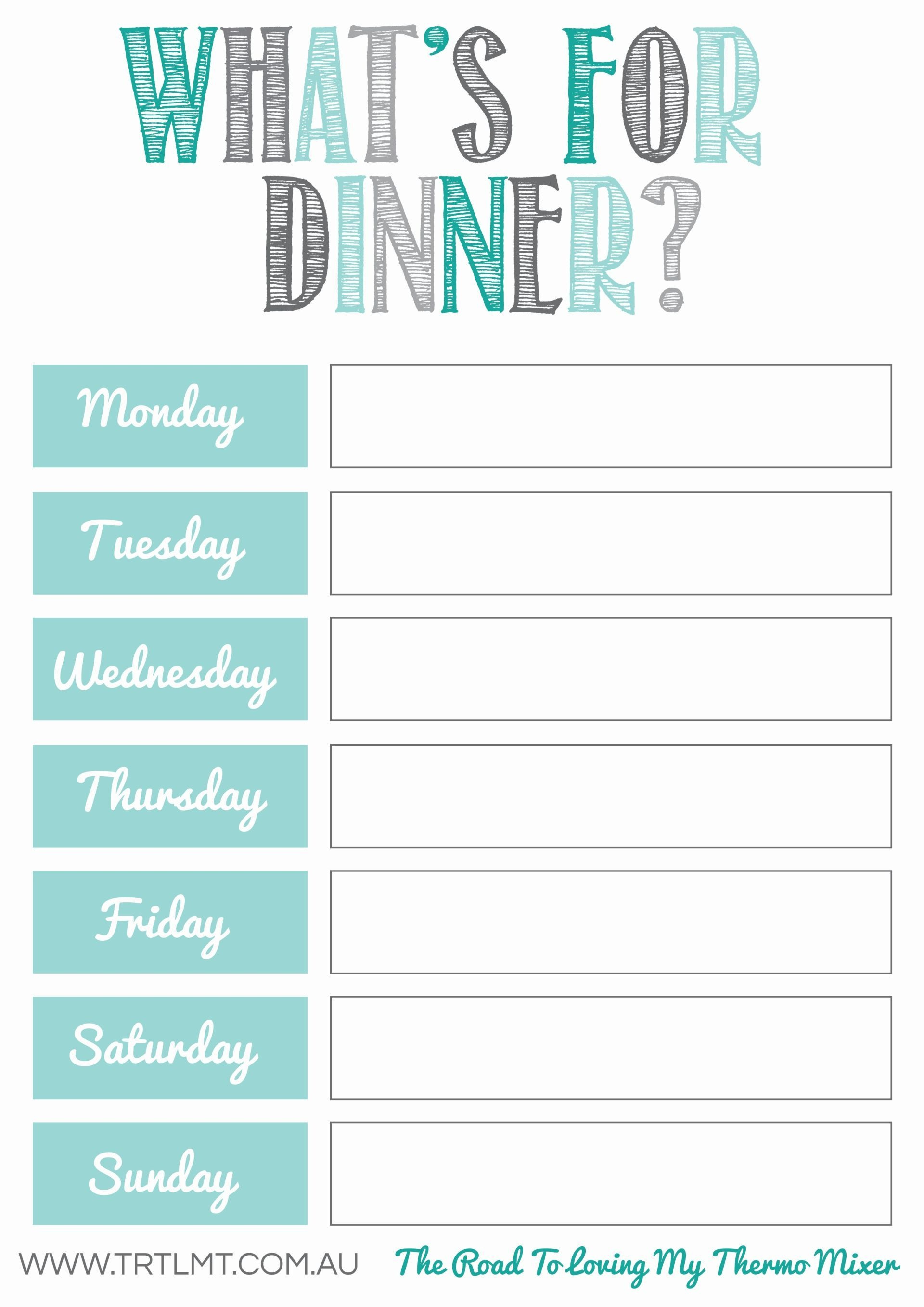 Clip Recipe Cards To It With Magnetic Clips And Hang On Fridge - Free Printable Menu