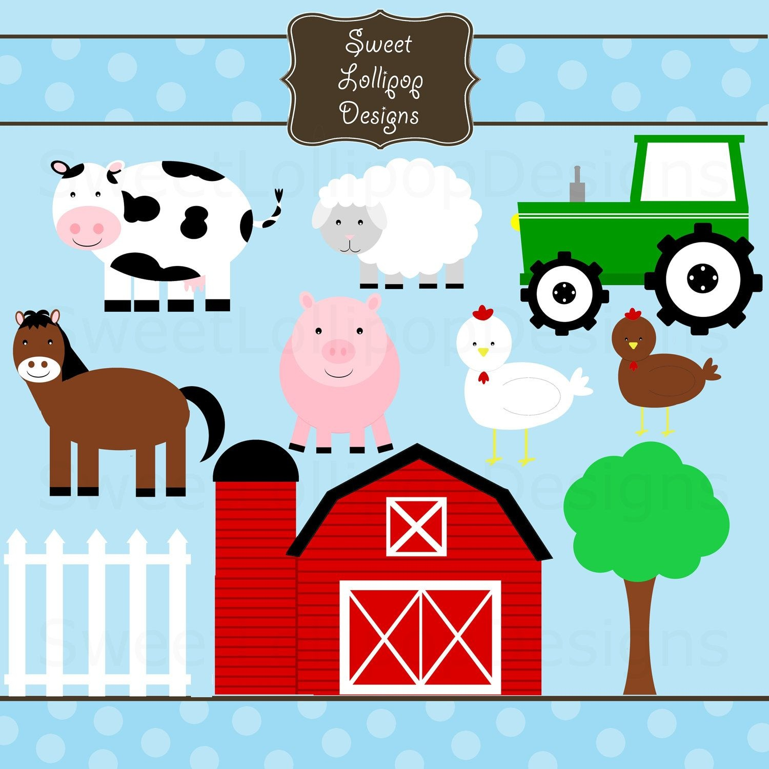 Clipart Farm Animals - Free Large Images | Farm Bday Party In 2019 - Free Printable Farm Animals