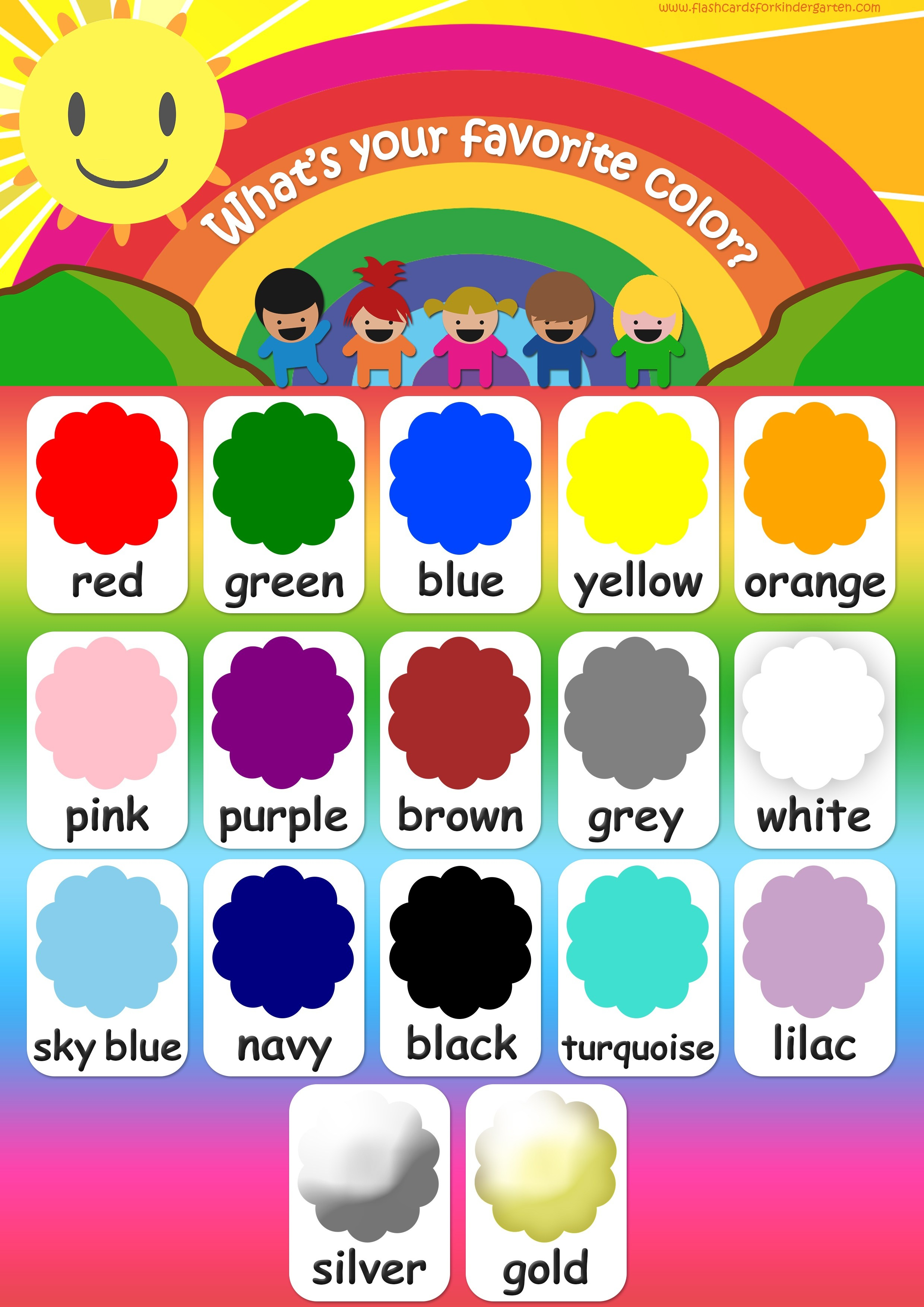 Color Flashcards - Teach Colors - Free Printable Flashcards & Posters! - Free Printable Colour Flashcards