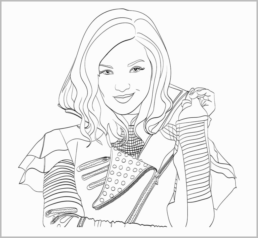 Coloring Book World ~ Coloring Book World Descendants Pages Disney - Free Printable Descendants Coloring Pages
