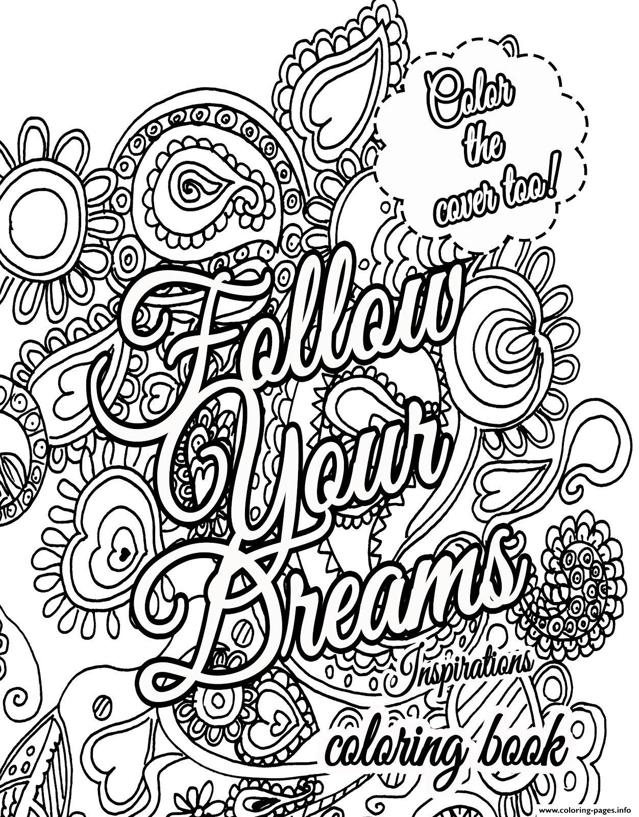 Coloring Book World ~ Free Positive Inspirational Quotes On Winter - Free Printable Quote Coloring Pages For Adults