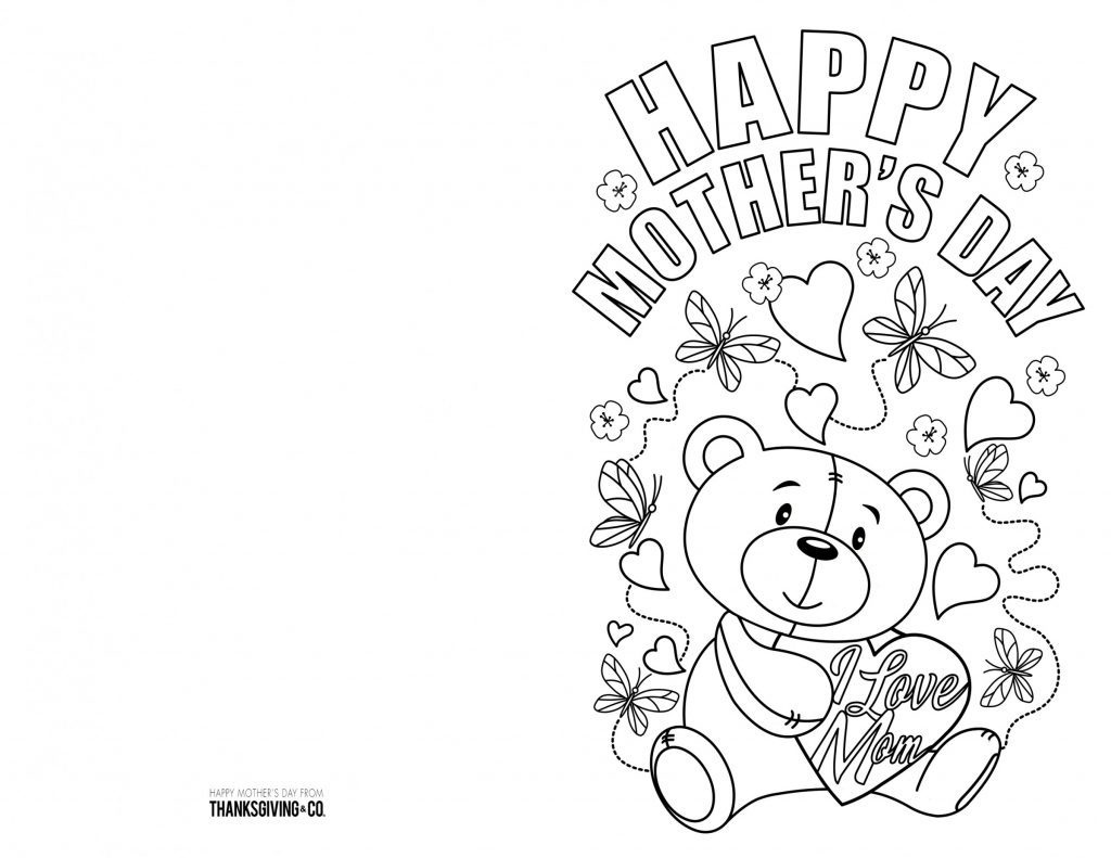 Coloring Book World ~ Printable Coloring Cards Book World Page - Free Printable Mothers Day Coloring Cards