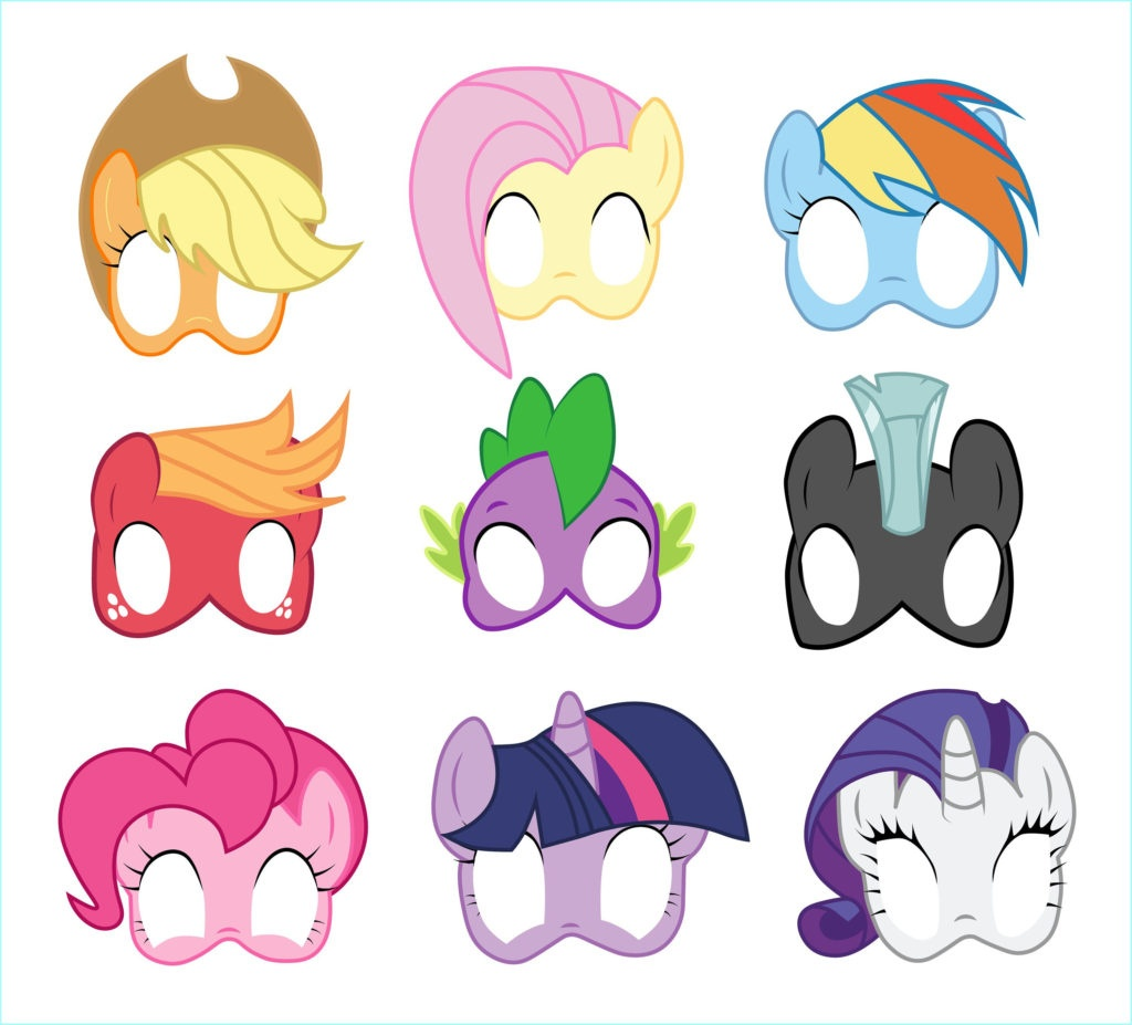 Coloring ~ Freerintable My Littleony Coloringages For Kids Character - Free My Little Pony Printable Masks