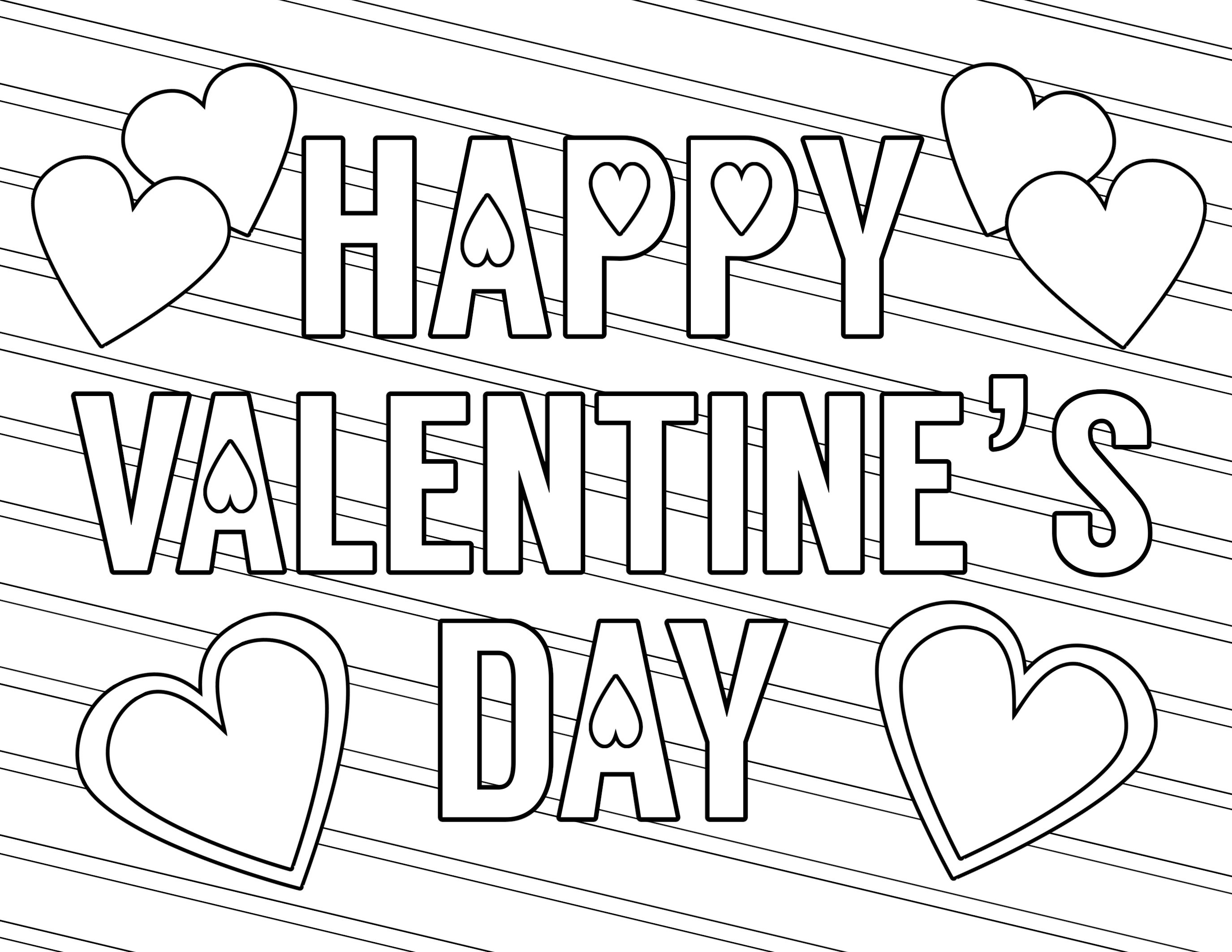 Coloring Ideas : Stunning Free Valentines Day Coloring Pages Page - Free Printable Valentines Day Coloring Pages