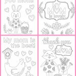 Coloring Page ~ Free Mothers Day Coloring Pages For Kids Cards Page   Free Printable Mothers Day Coloring Cards