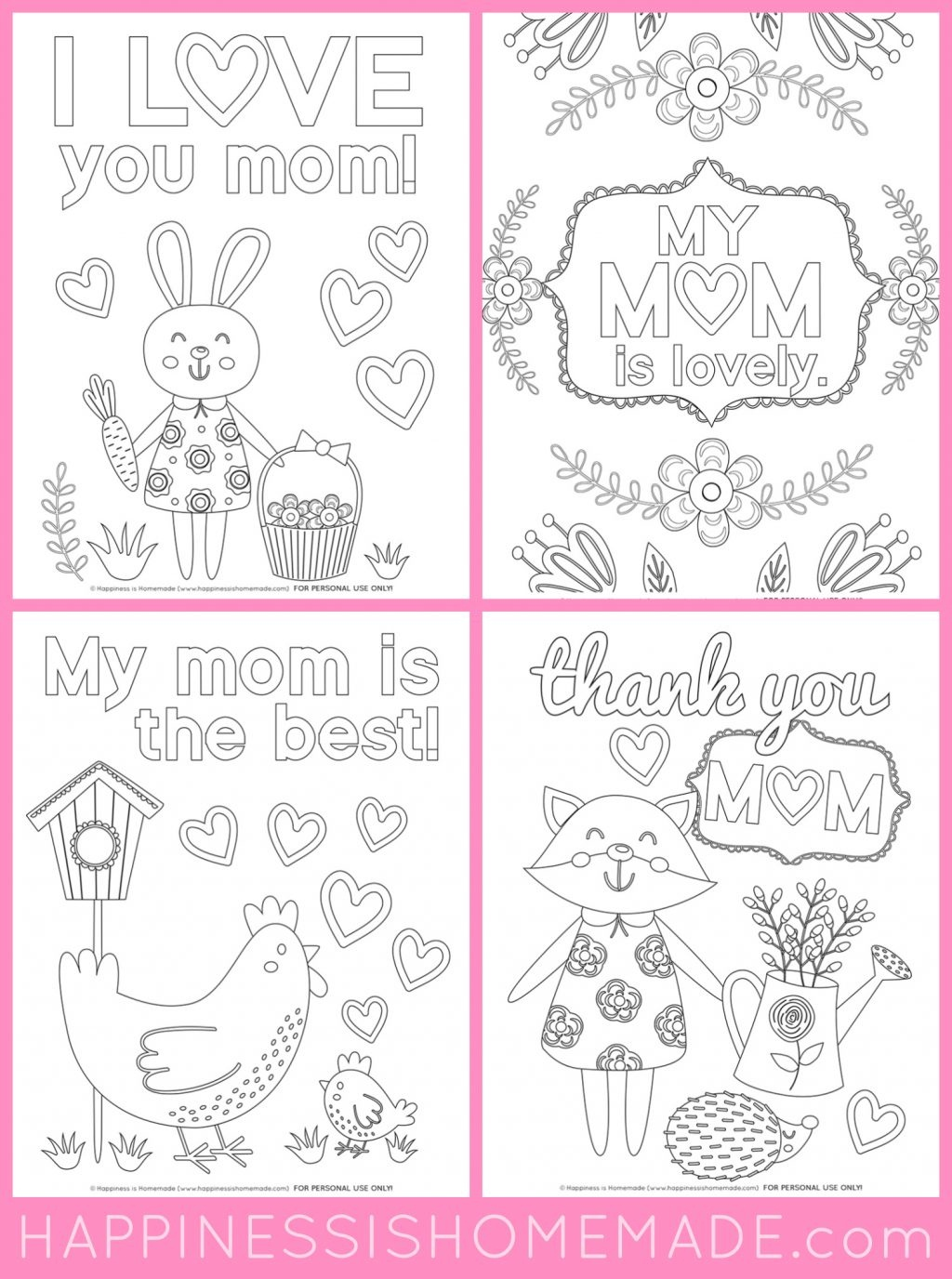 Coloring Page ~ Free Mothers Day Coloring Pages For Kids Cards Page - Free Printable Mothers Day Coloring Cards