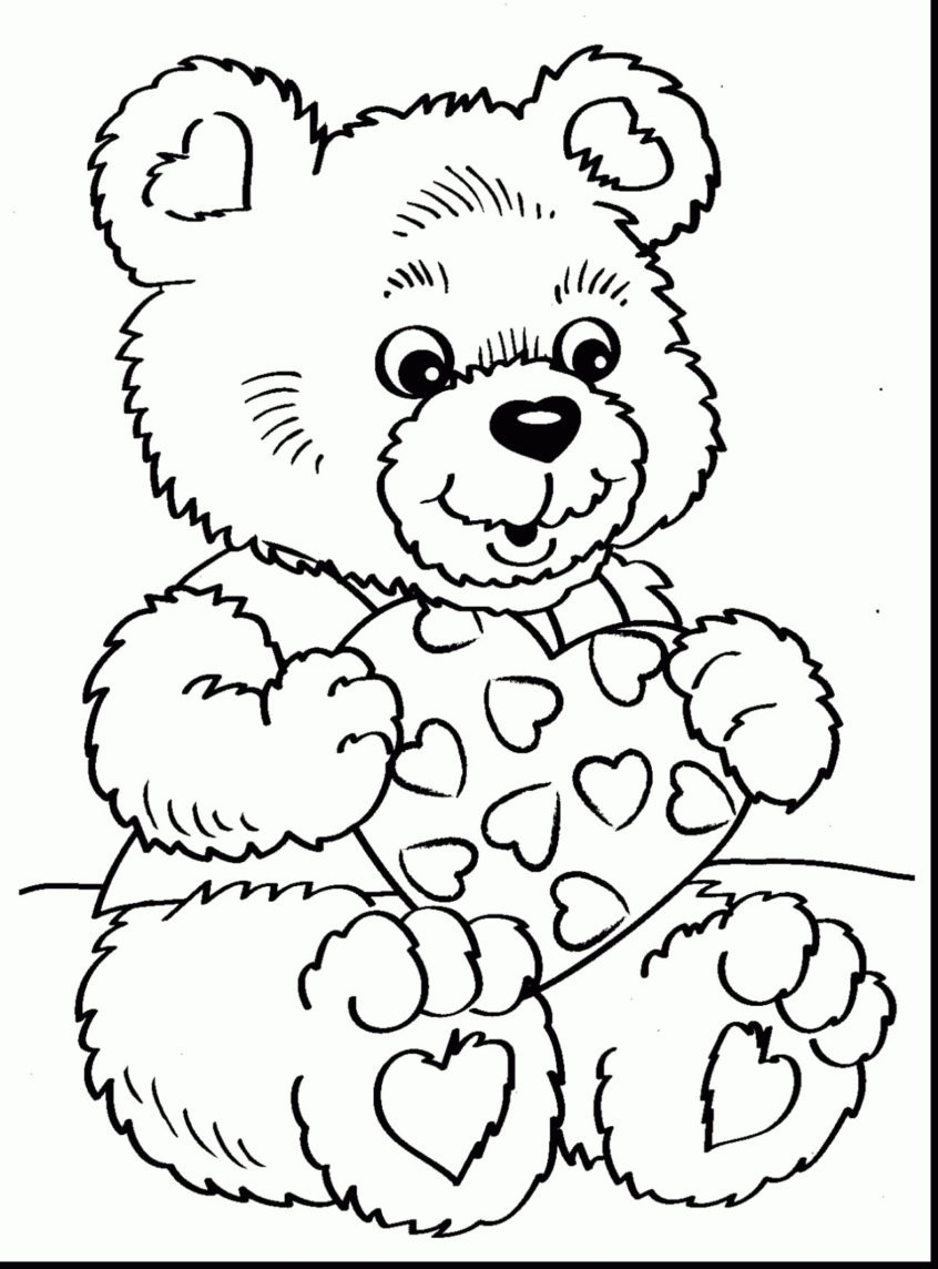 Teddy Bear Coloring Pages Free Printable | Free Printable