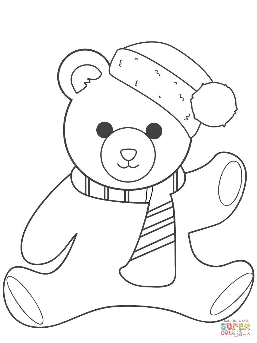 Coloring Pages Ideas: Coloring Pages Ideas Christmas Teddy Bearring - Teddy Bear Coloring Pages Free Printable