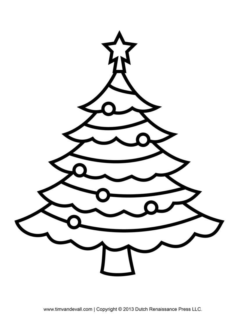 Coloring Pages Ideas: Coloring Pages Ideas Christmas Tree Free - Free Printable Christmas Tree Template
