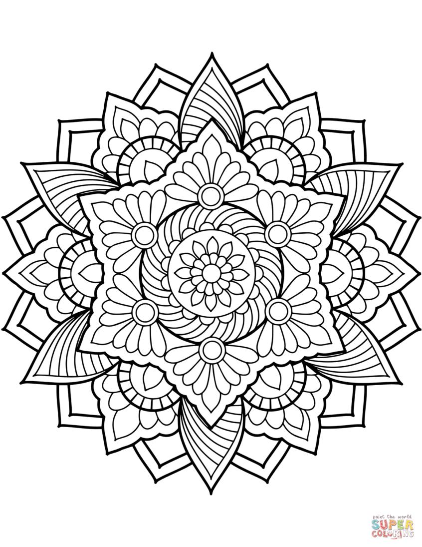 Coloring Pages Ideas: Coloring Pages Ideas Flower Mandala Meaning To - Mandala Coloring Free Printable