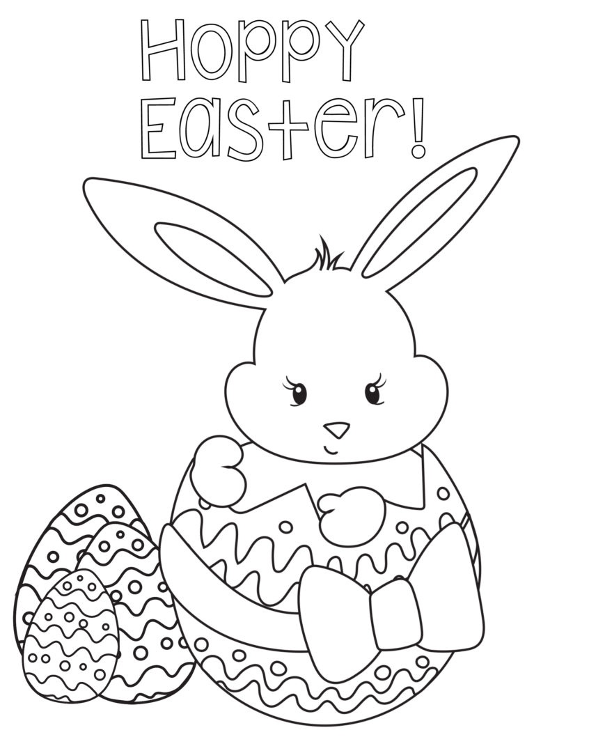 Coloring Pages Ideas: Coloring Pages Ideas Hoppyeastercoloringpage - Free Printable Easter Coloring Pictures