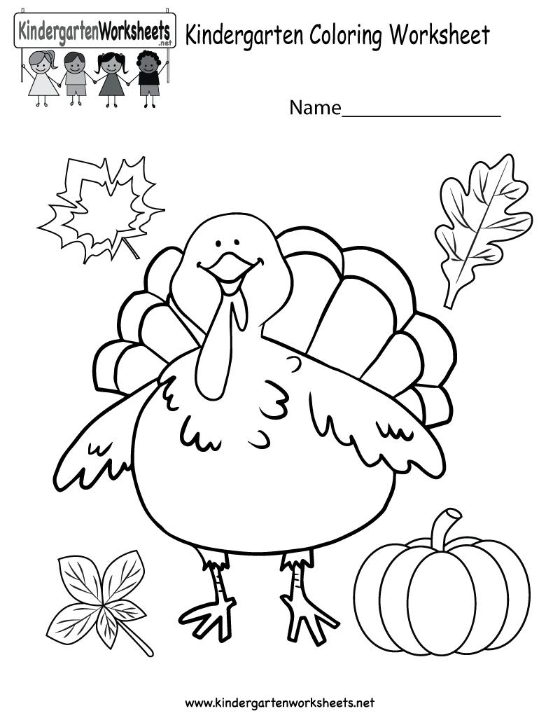 Coloring Pages Ideas: Coloring Worksheets For Kids Kindergarten - Free Printable Kindergarten Thanksgiving Activities