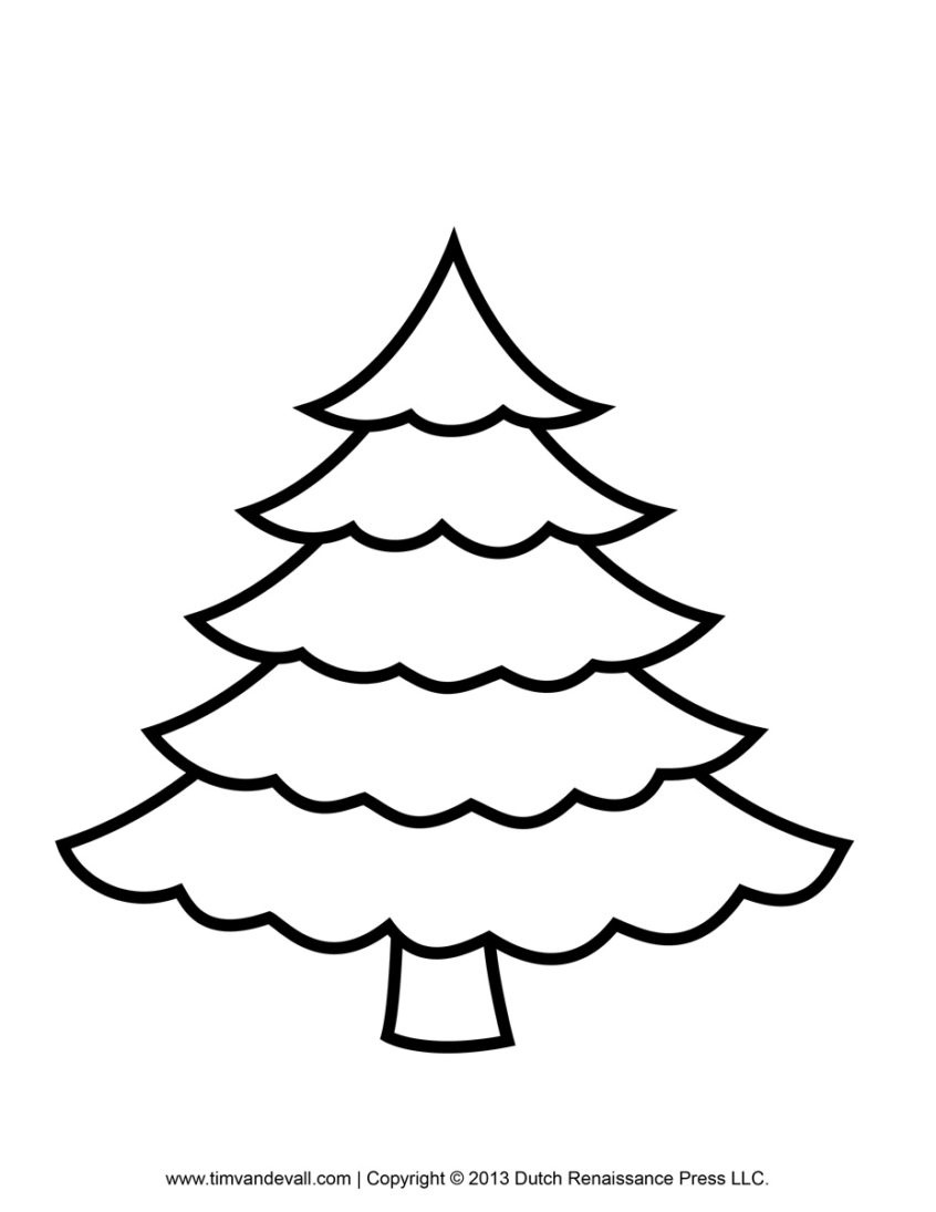 Coloring Pages Ideas: Free Christmas Tree Coloring Pages Printable - Free Printable Christmas Tree Template