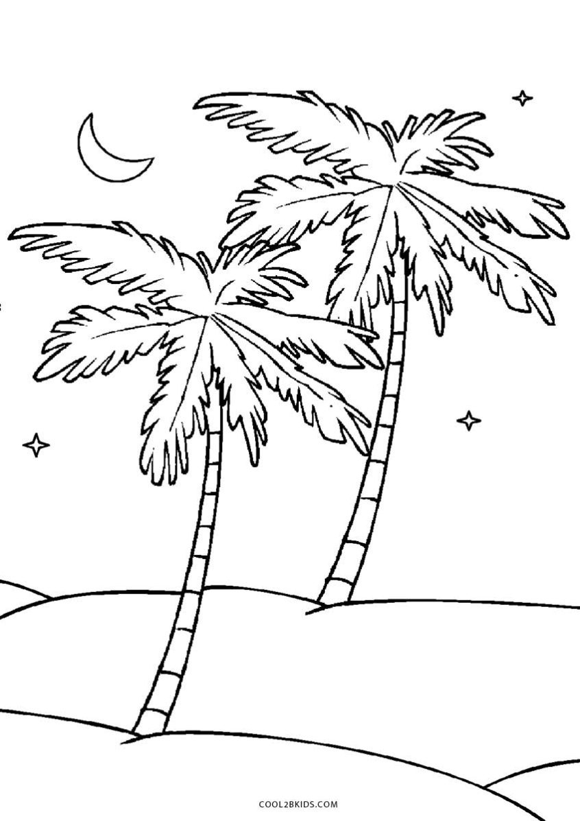 Coloring Pages Ideas: Free Printable Treeoloring Pages For - Free Printable Palm Tree Template