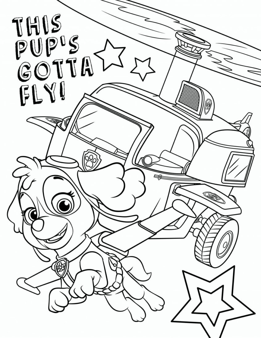 Coloring Pages Ideas: Paw Patrololoring Pages Skye Ideas - Free Printable Paw Patrol Coloring Pages