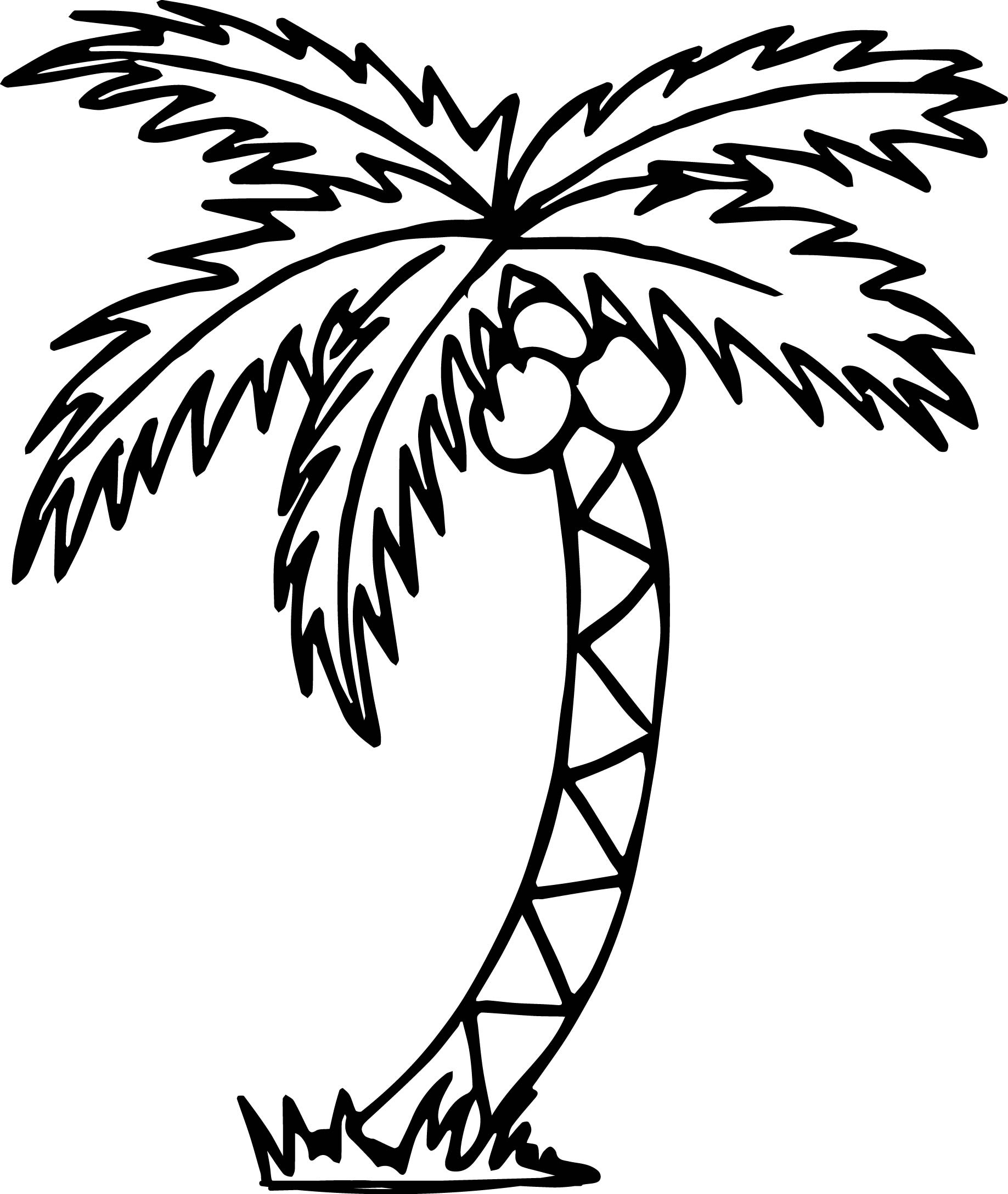 Coloring Pages Ideas: Remarkable Palm Tree Coloring Pages. Free - Free Printable Palm Tree Template