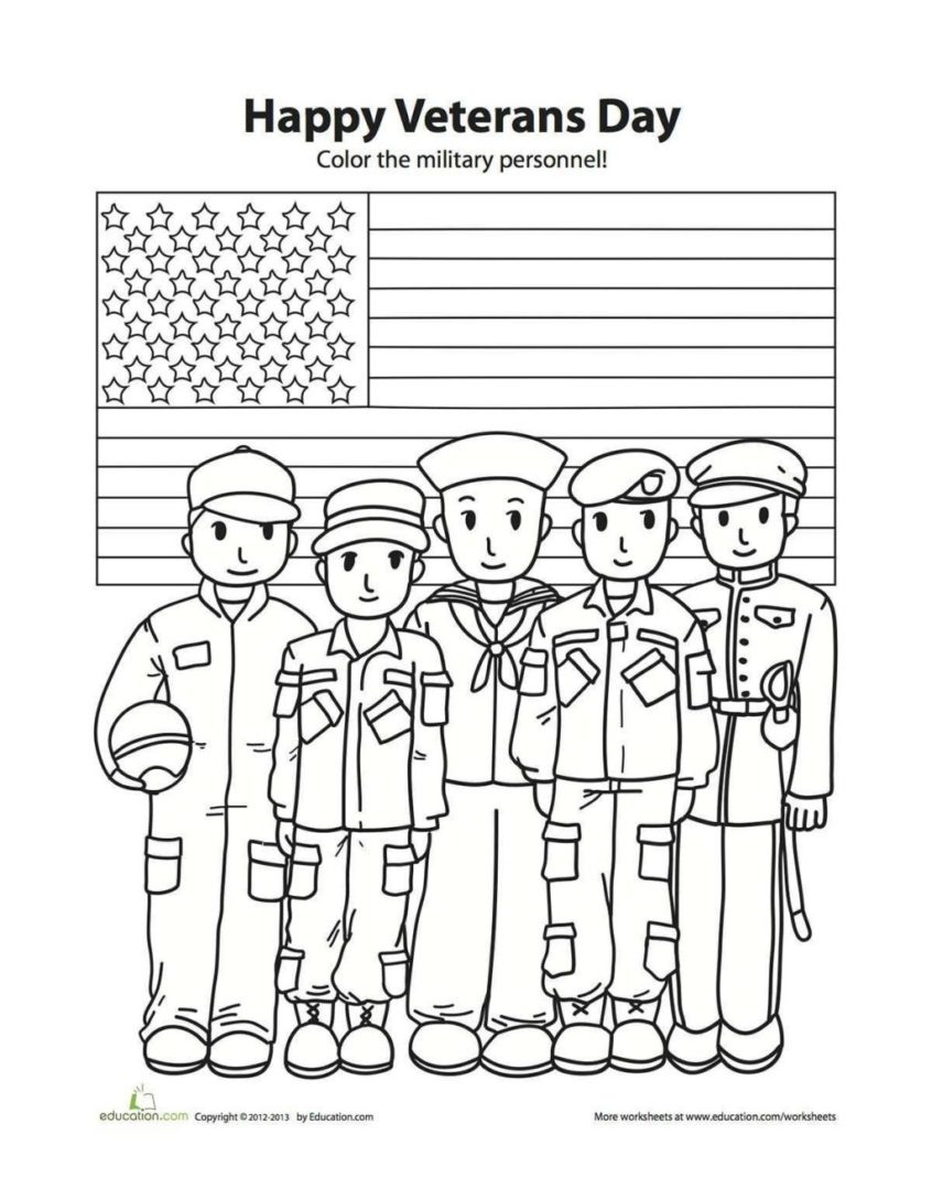 Coloring Pages Ideas: Remarkable Veterans Day Printable Coloring - Veterans Day Free Printable Cards