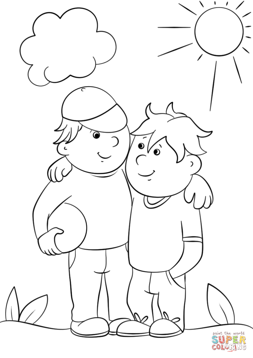 Coloring Pages Ideas: Two Best Friends Coloring Page Pages Ideas - Free Printable Bff Coloring Pages