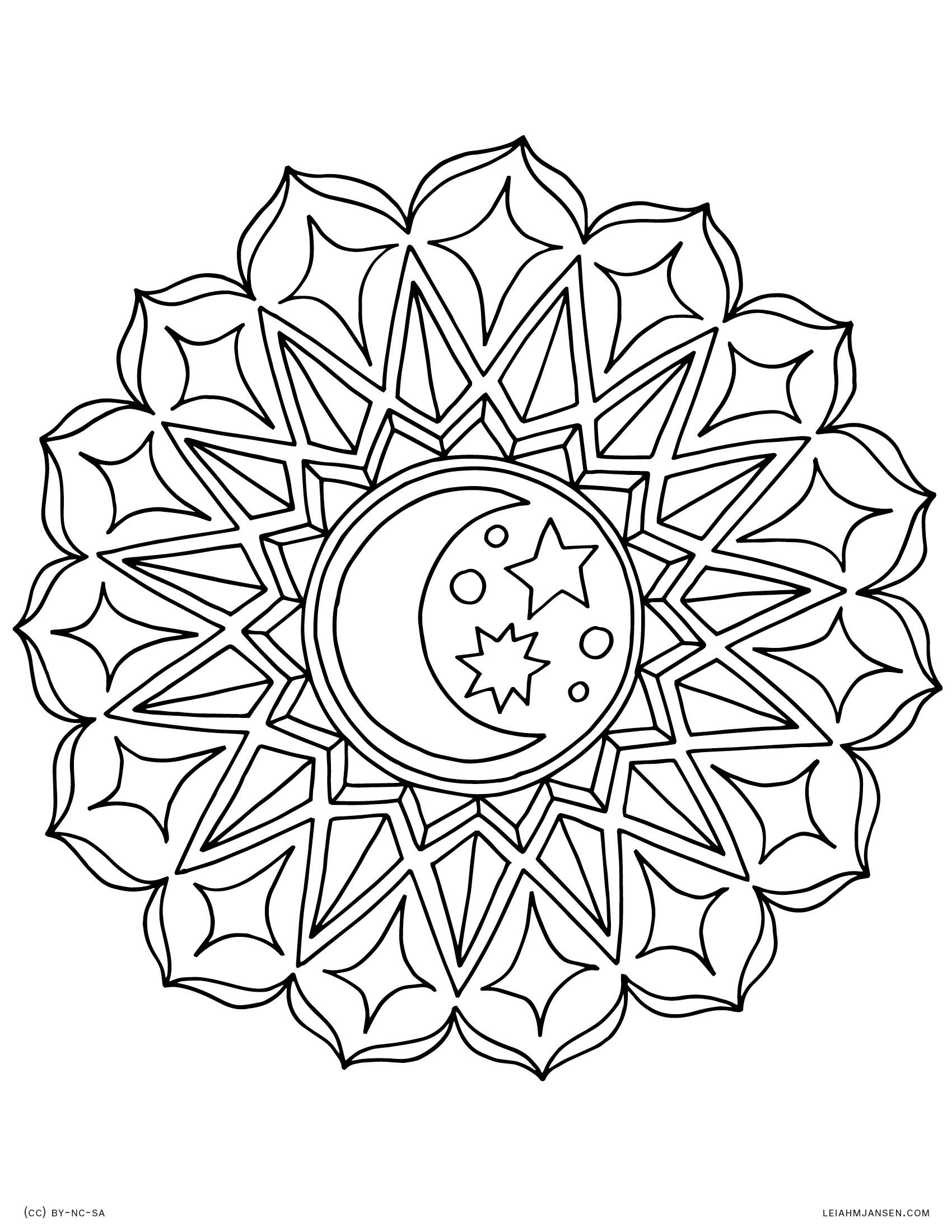 Coloring Pages - Mandala Coloring Free Printable