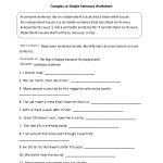Complex Or Simple Sentence Worksheet   Englishlinx Board   Free Printable Worksheets On Simple Compound And Complex Sentences