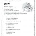 Comprehension Activities For 2Nd Grade Free Printable Reading   Free Printable Short Stories For 2Nd Graders