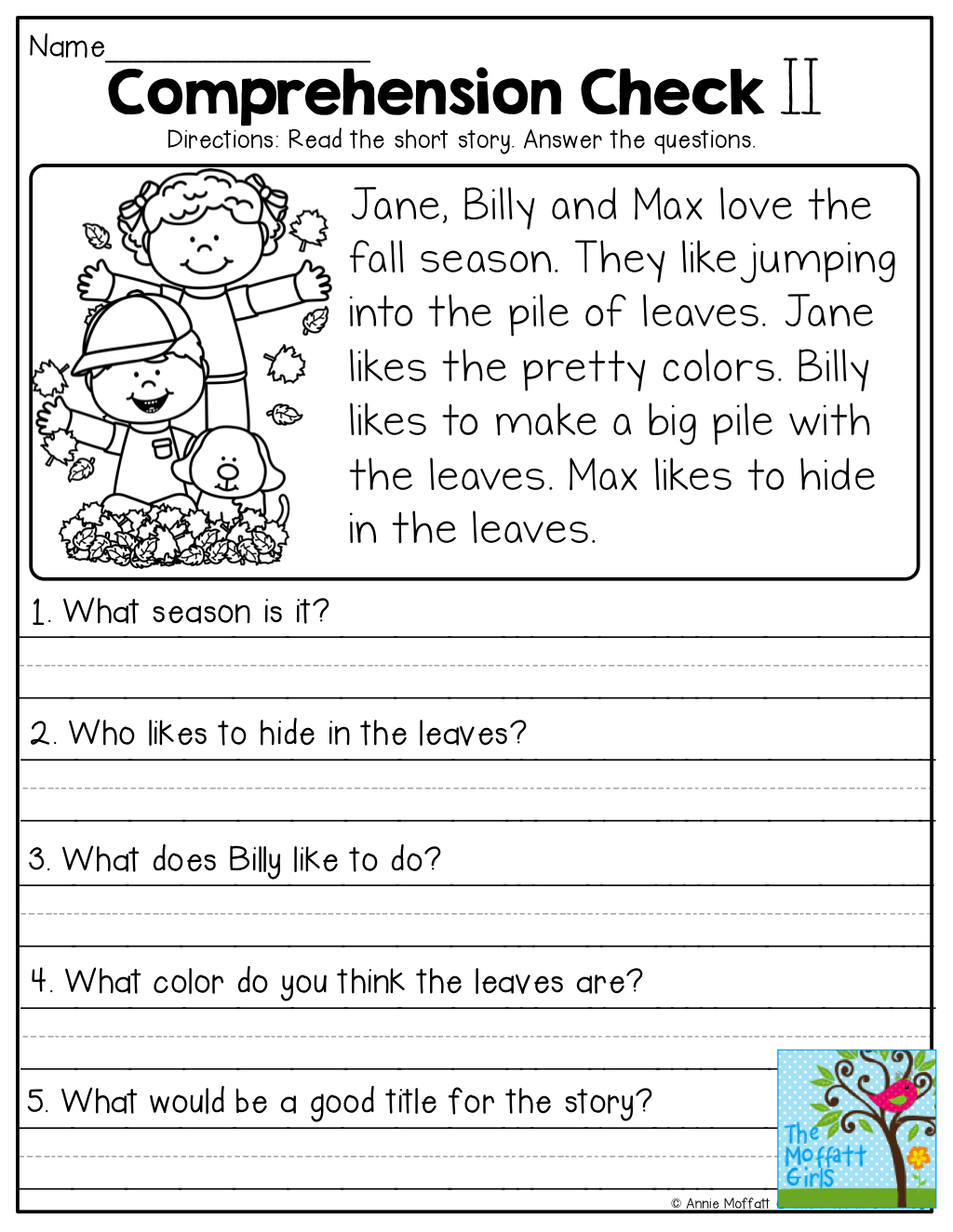 Comprehension Checks And So Many More Useful Printables! | Teaching - Free Printable Short Stories For Grade 3