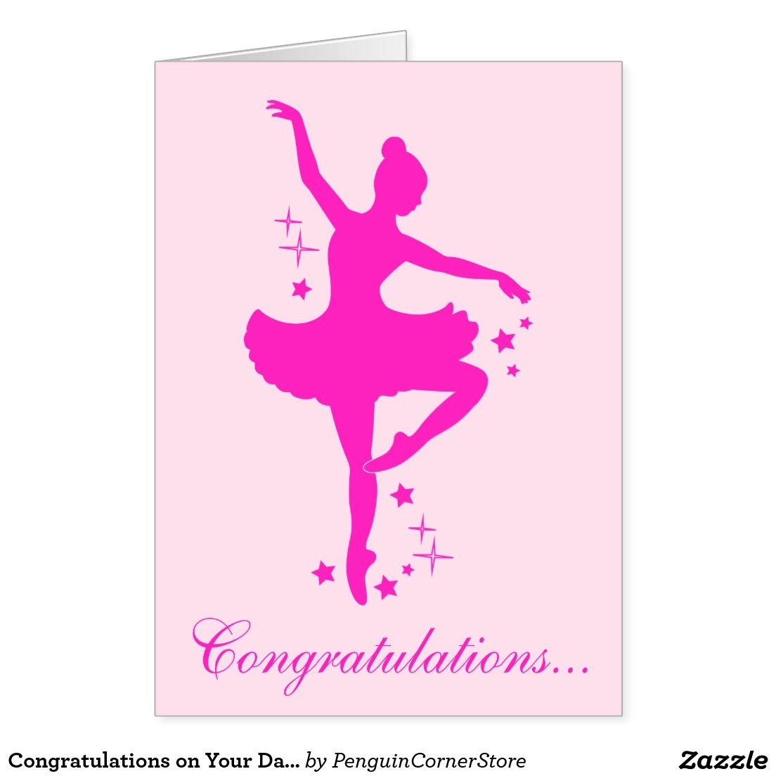 Congratulations On Your Dance Recital Card | Zazzle - Free Printable Dance Recital Cards