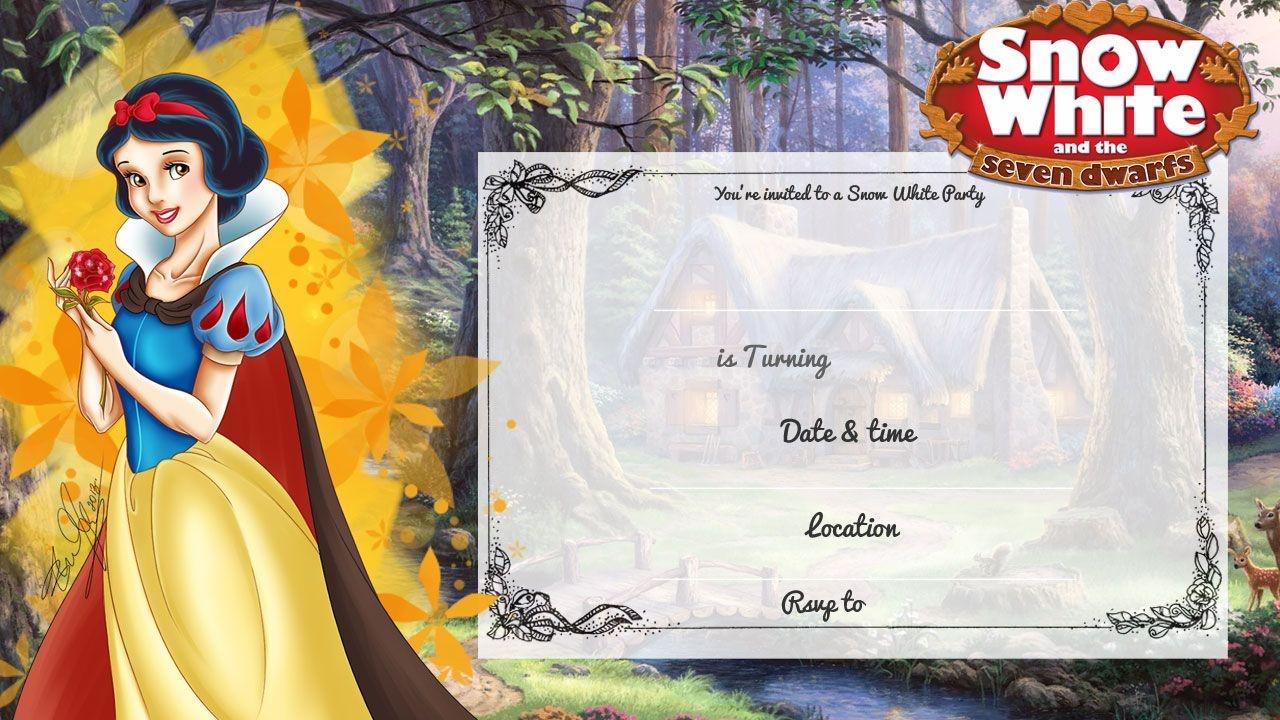 Cool Free Printable Snow White Birthday Invitation | Bagvania - Snow White Invitations Free Printable