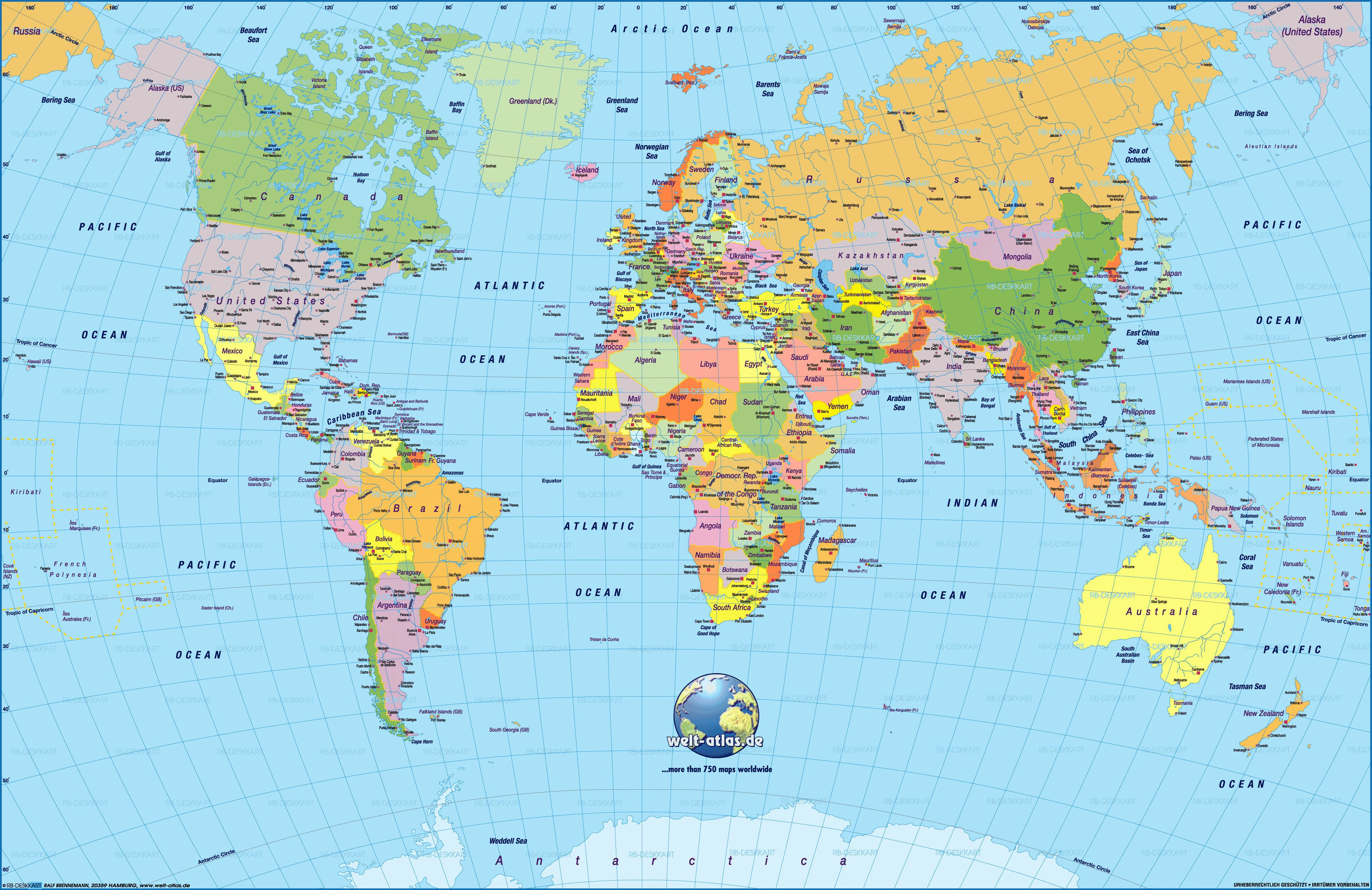 Cool World Map Pdf 2 | Maps | Detailed World Map, World Map - Free Printable World Map Pdf