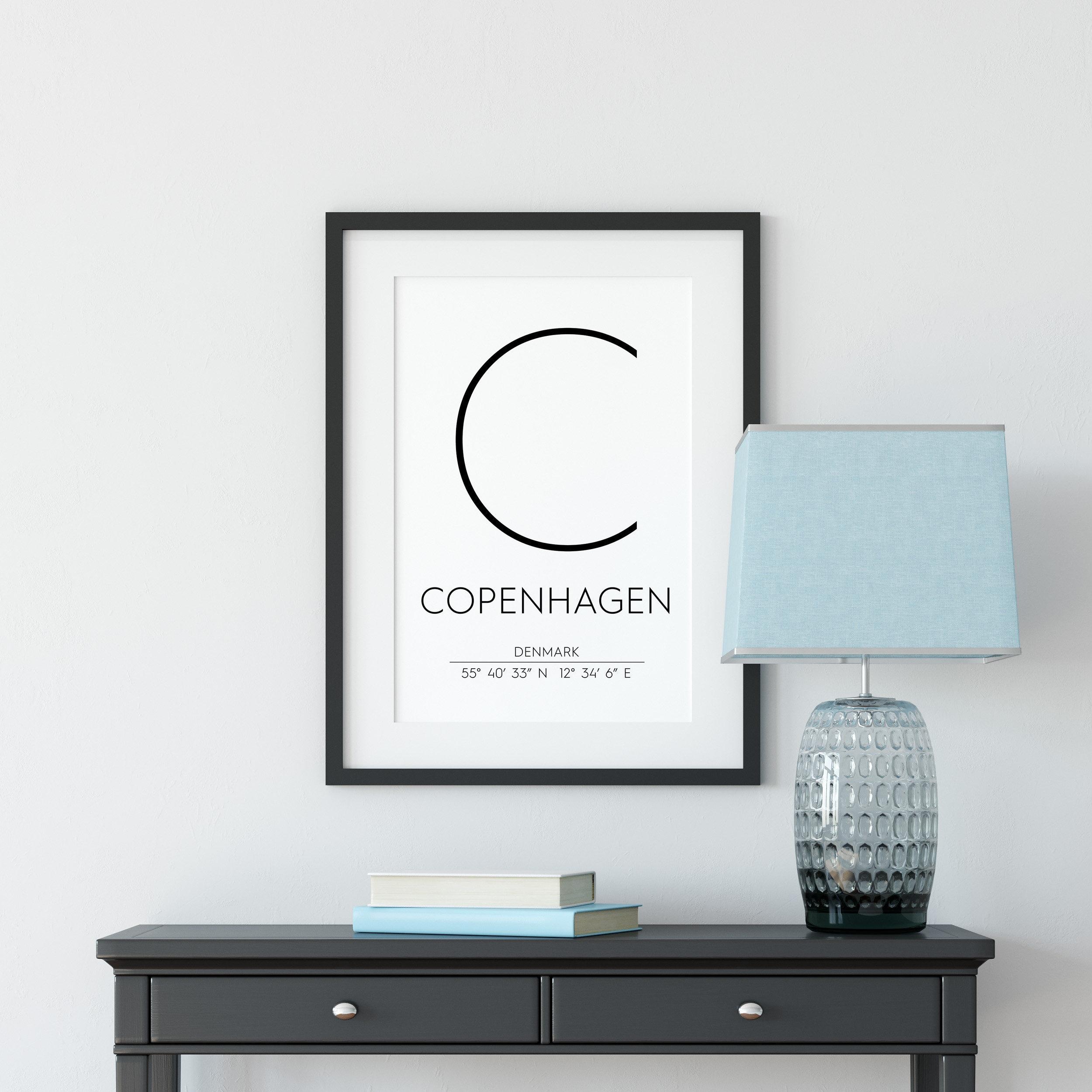 Copenhagen Denmark Print Copenhagen Poster Copenhagen | Etsy - Free Printable Copenhagen Coupons