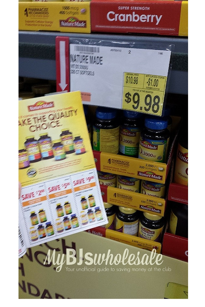 Coupon Stack- Save On Nature Made Vitamins At Bj's | My Bjs - Free Printable Nature Made Vitamin Coupons
