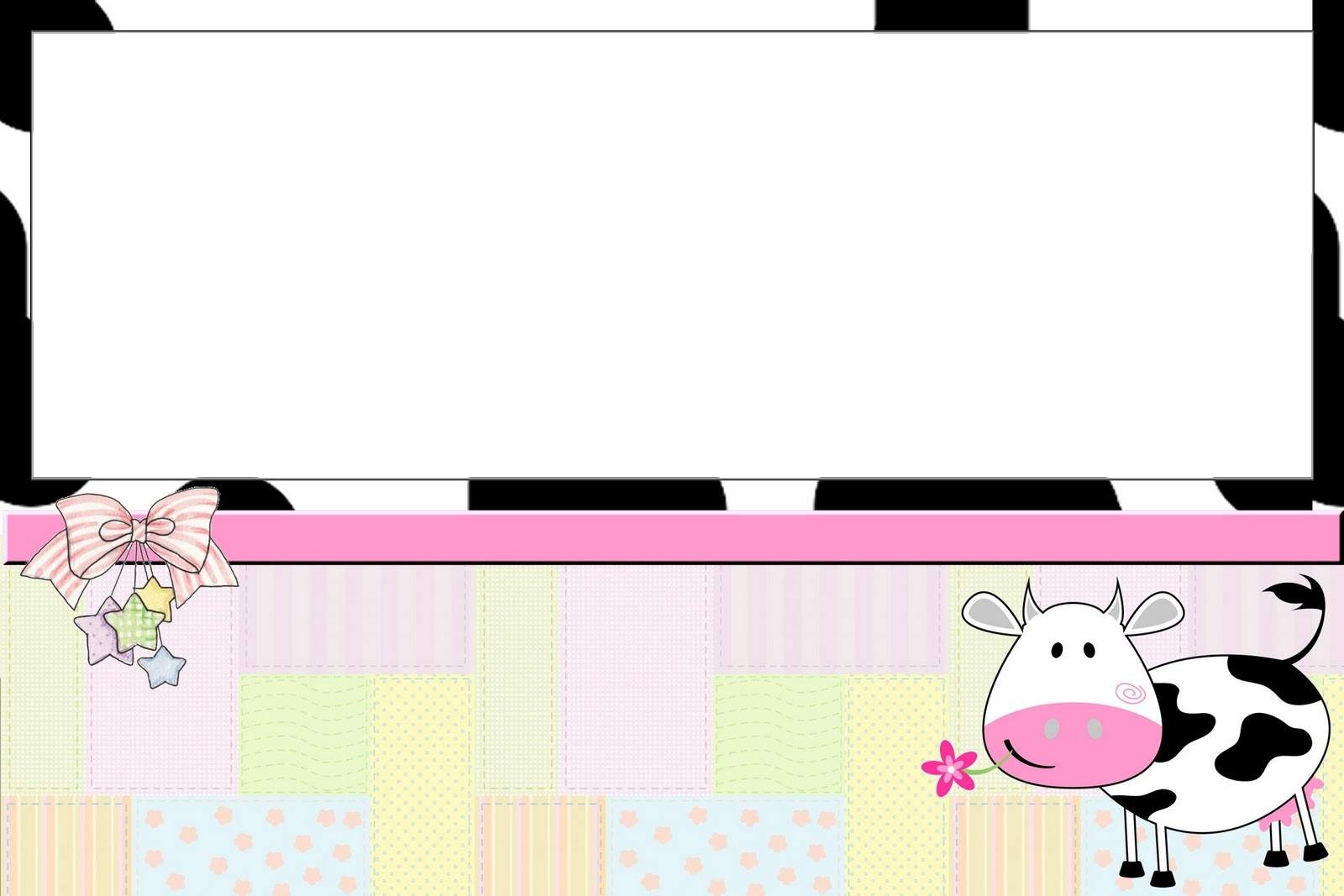 Cow And Patchwork Free Printable Invitations. - Oh My Fiesta! In English - Free Printable Cow Birthday Invitations