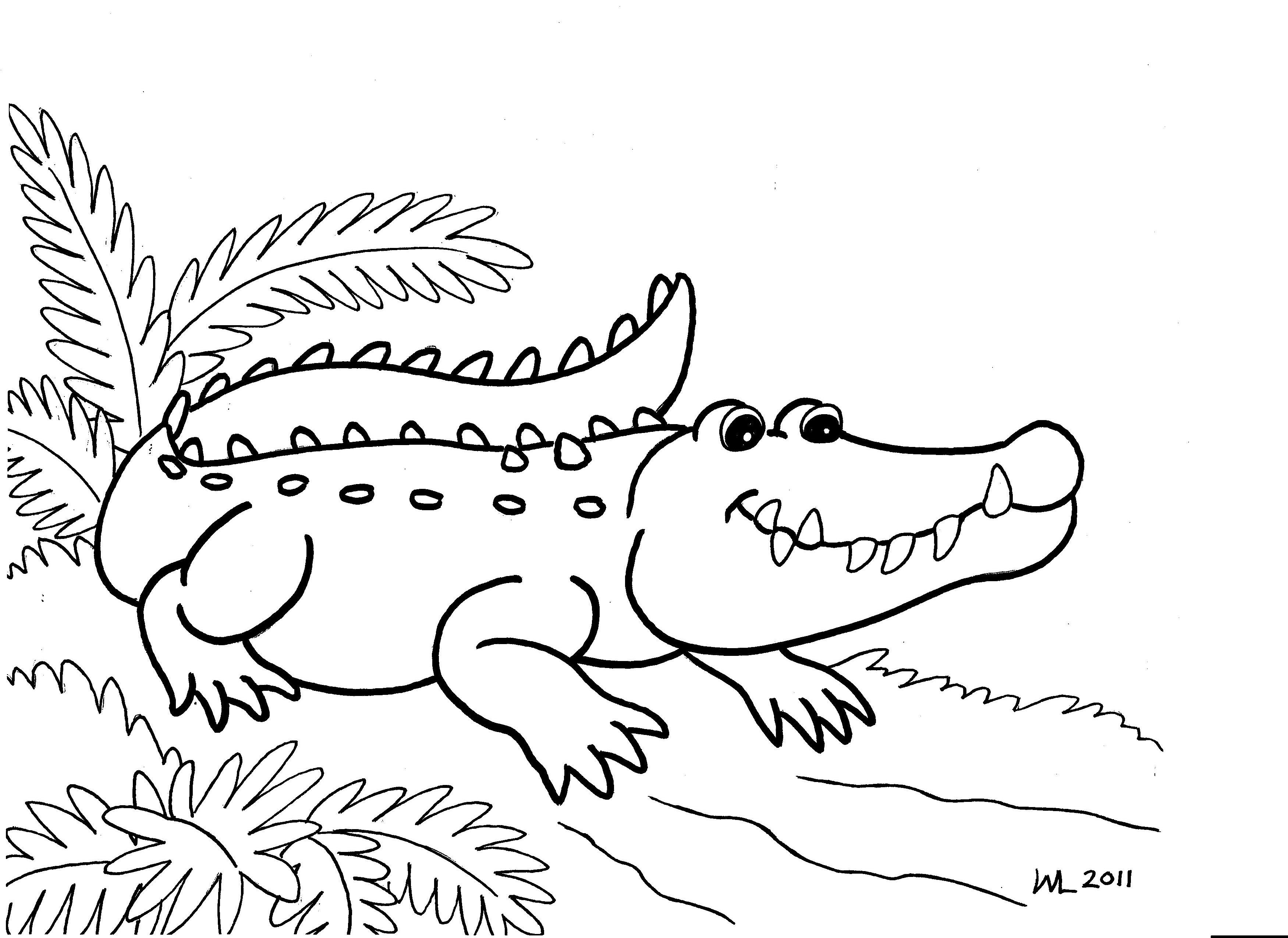 Crocodile Coloring Pages - Croc Coloring Pages At Getdrawings Com - Free Printable Pictures Of Crocodiles