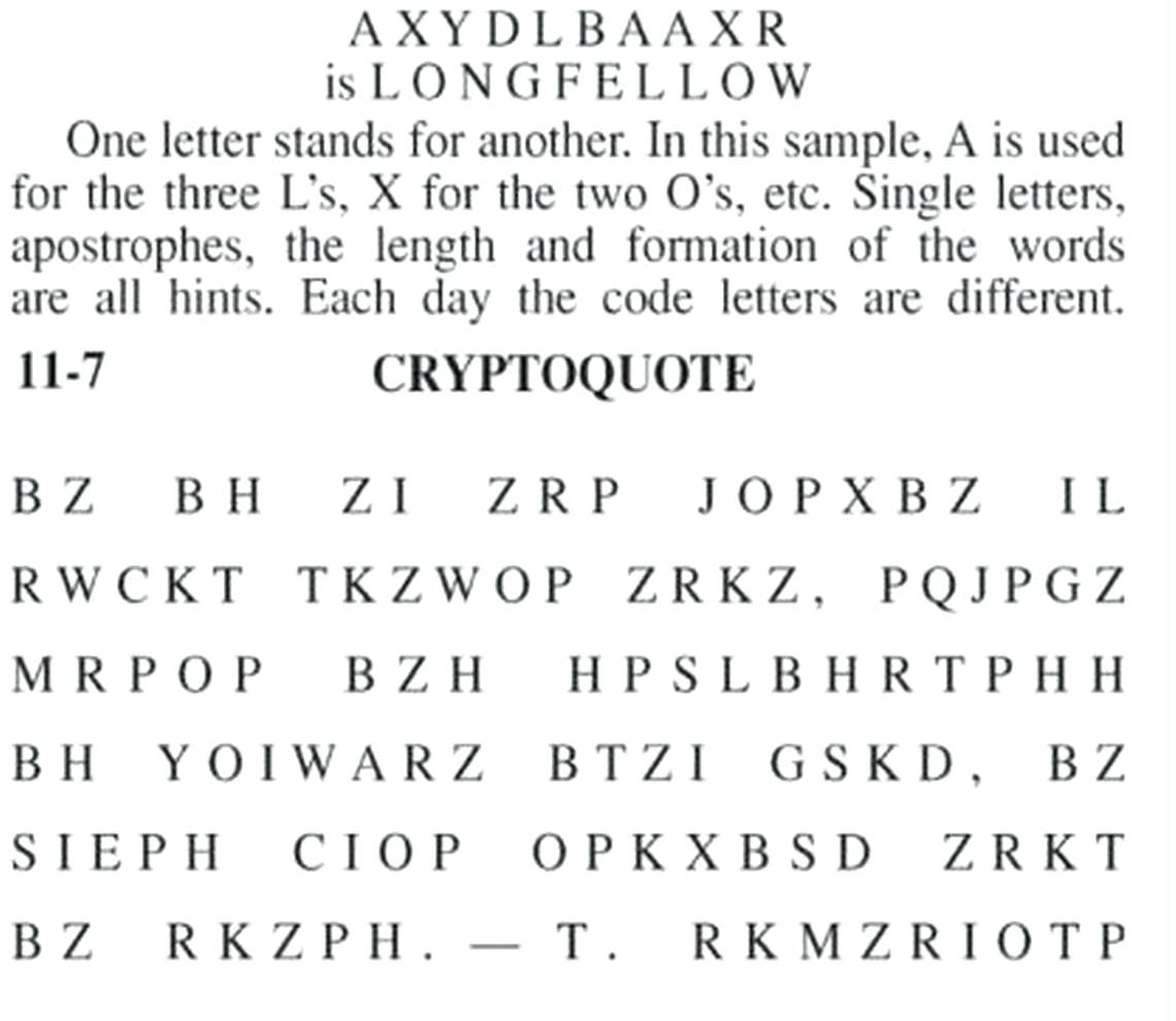 photo regarding Cryptoquip Puzzles Free Printable called Very simple Cryptogram Puzzles Us Positioning A Upon The Magnetic Stripe