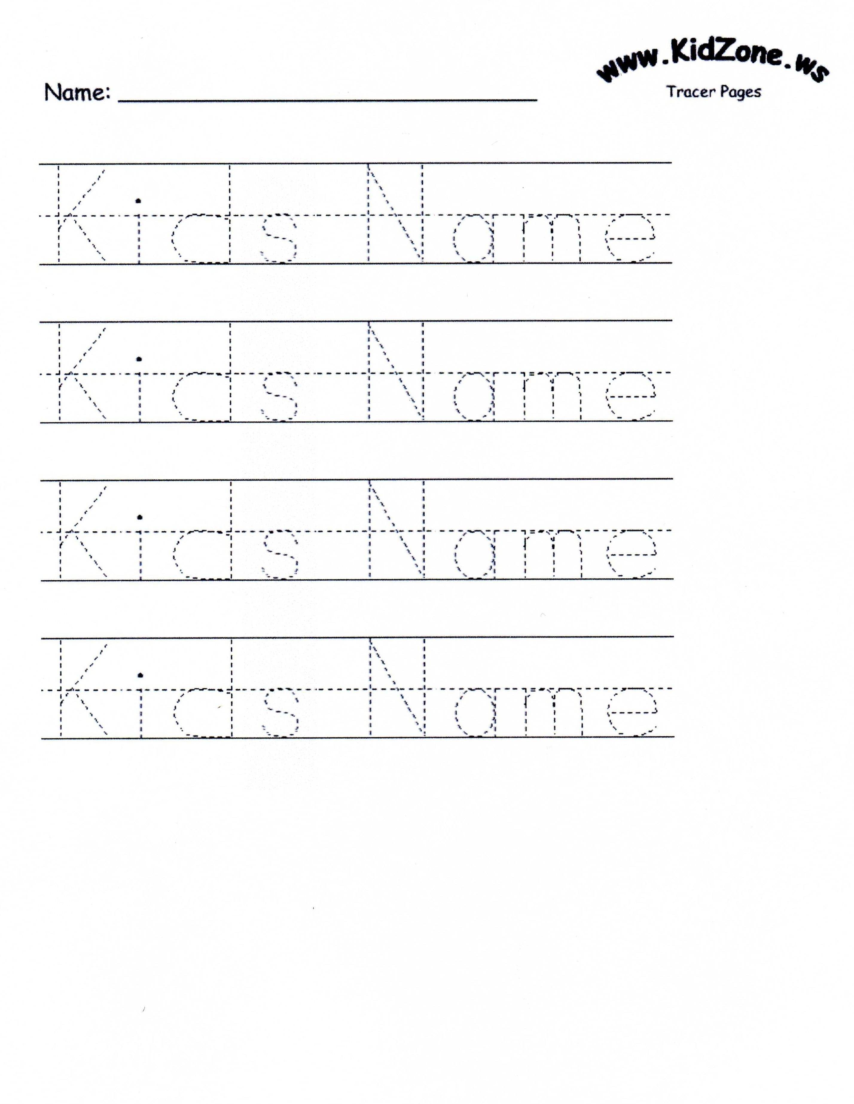 Customizable Printable Letter Pages   Teaching Mackenzie And Juliana - Free Printable Preschool Name Tracer Pages