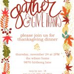 Customizable Thanksgiving Invitation | Free Printable   Free Printable Invitations