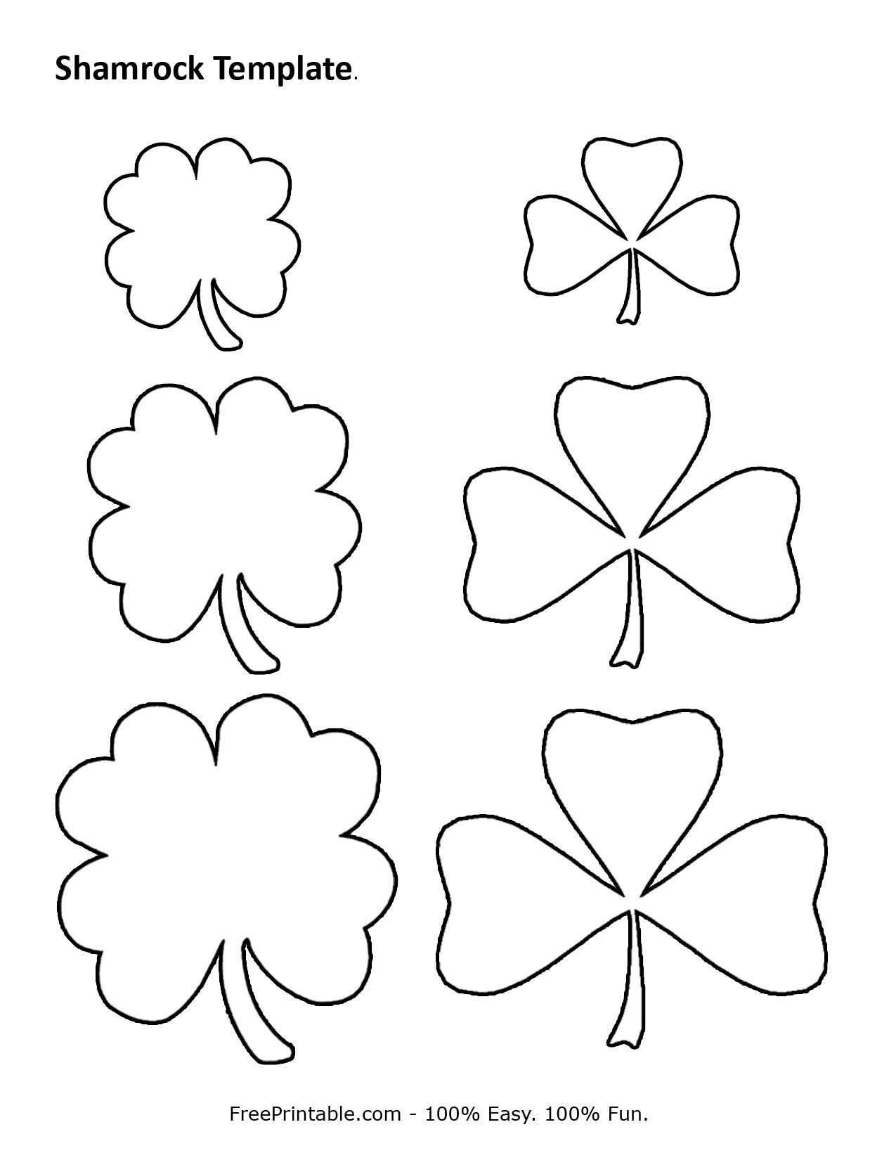 Customize Your Free Printable Shamrock Template | Home | Shamrock - Free Printable Shamrocks